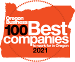 Oregon Business 100 Best companies to work for in Oregon 2021 logo