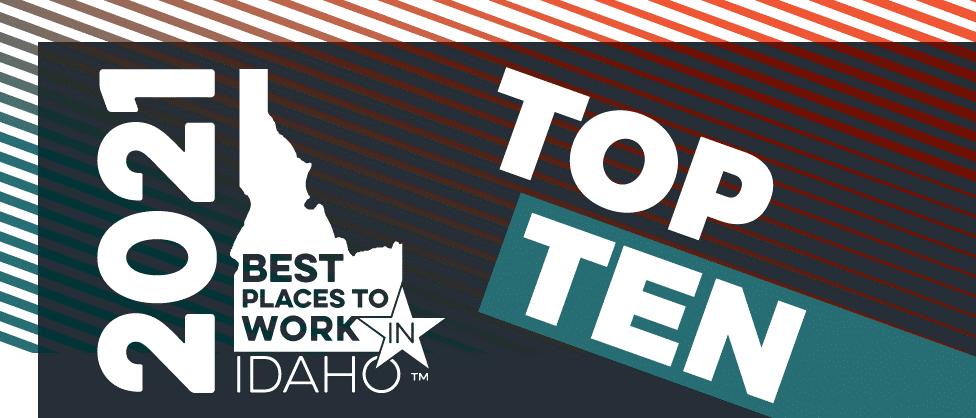 2021 Best Places to Work Top Ten Logo